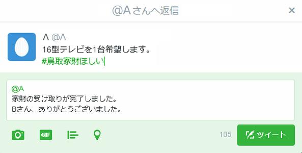 ツイートの例