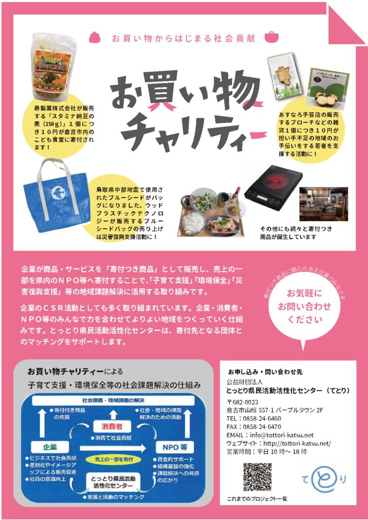 thumbnail of H31お買い物チャリティーチラシA4
